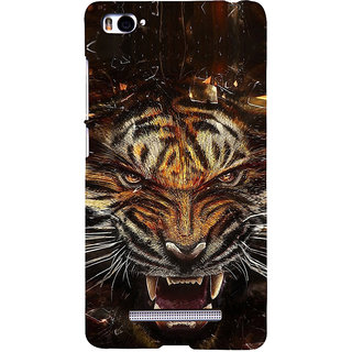 ifasho Roaring Tiger  Back Case Cover for Redmi Mi4i