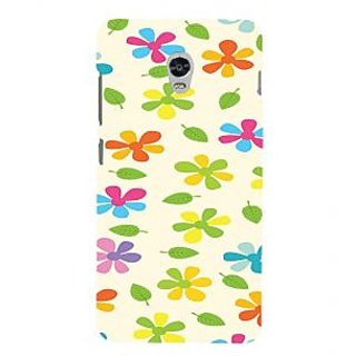 ifasho Animated Pattern flower with leaves Back Case Cover for Lenovo Vibe P1