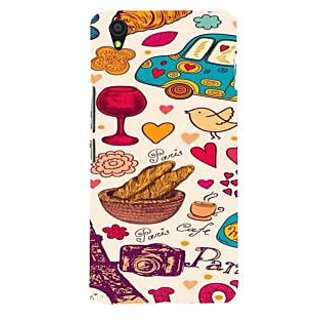 ifasho Modern Art Design Pattern car food tower bird Back Case Cover for One Plus X