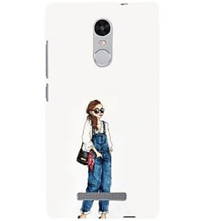 ifasho Girl in jeans Back Case Cover for REDMI Note 3