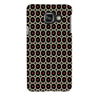 ifasho Animation Clourful Circle on black background Pattern Back Case Cover for Samsung Galaxy A3 A310 (2016 Edition)