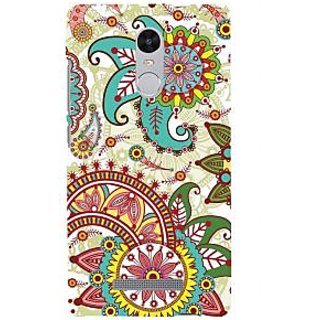 ifasho Animated Pattern colrful design flower with 3Daditional design Back Case Cover for REDMI Note 3