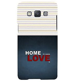 ifasho Home is where love is quote Back Case Cover for Samsung Galaxy A7