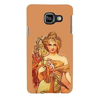 ifasho Young Girl with flower in hand Back Case Cover for Samsung Galaxy A3 A310 (2016 Edition)