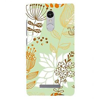 ifasho Animated Pattern painting colrful design cartoon flower with leaves Back Case Cover for REDMI Note 3