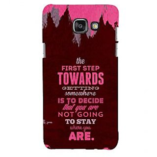 ifasho Kowledge quotes Back Case Cover for Samsung Galaxy A5 A510 (2016 Edition)