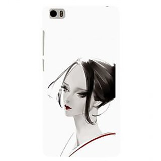 ifasho Chinese Girl Back Case Cover for Redmi Mi5