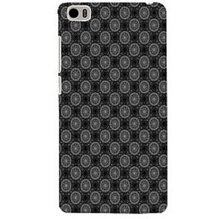ifasho Animated Pattern design black and white flower in royal style Back Case Cover for Redmi Mi5