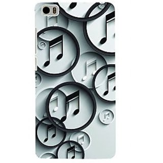 ifasho Modern Art Design Pattern Music symbol Back Case Cover for Redmi Mi5
