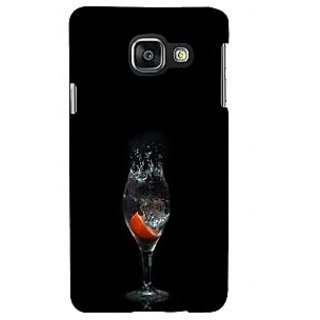 ifasho Rose in water glass with Drop of water Back Case Cover for Samsung Galaxy A3 A310 (2016 Edition)