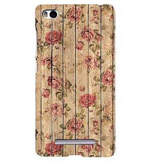 ifasho Modern Art Design painted flower on wood Back Case Cover for Redmi Mi4i