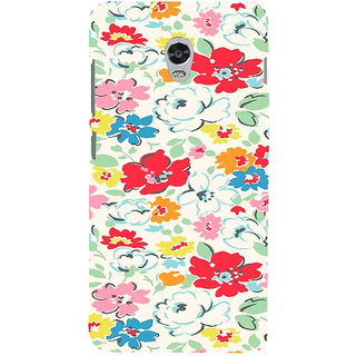 ifasho Animated Pattern colrful flower with leaves Back Case Cover for Lenovo Vibe P1