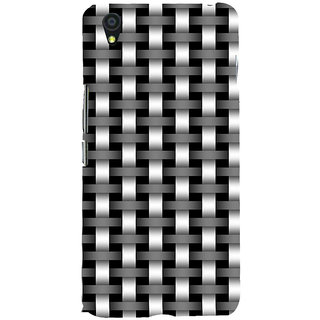 ifasho Modern Art Design animated cloth Pattern of black and white bamboo style Back Case Cover for One Plus X