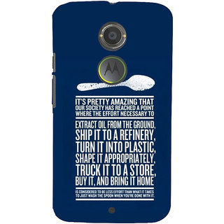 ifasho Think Out of Box quotes Back Case Cover for Motorola MOTO X2