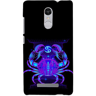 ifasho zodiac sign cancer Back Case Cover for REDMI Note 3