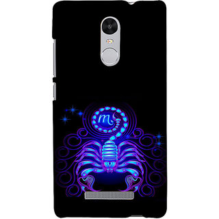 ifasho zodiac sign scorpio Back Case Cover for REDMI Note 3