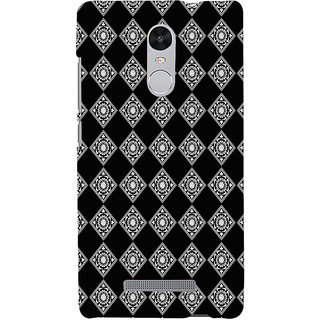ifasho Modern Theme of royal design in black and white pattern Back Case Cover for REDMI Note 3