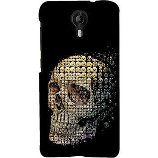 ifasho Modern  Design animated skeleton Back Case Cover for Micromax CanvasNitro3E455