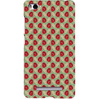 ifasho Animated Pattern flower with leaves Back Case Cover for Redmi Mi4i