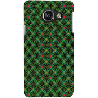ifasho Pattern green red and black flower design Back Case Cover for Samsung Galaxy A3 A310 (2016 Edition)