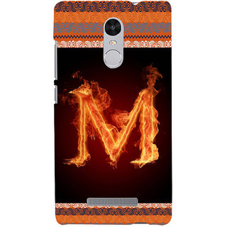 ifasho alphabet name series M Back Case Cover for REDMI Note 3