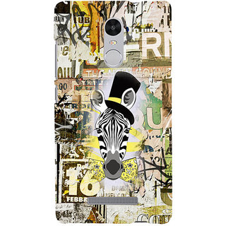 ifasho Animated Pattern of zebra Print Back Case Cover for REDMI Note 3
