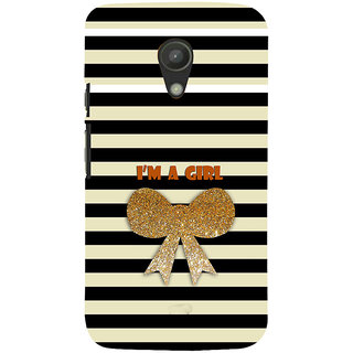 ifasho I am a girl Back Case Cover for Moto G2