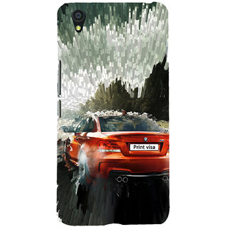 ifasho Animation Car Back Case Cover for One Plus X