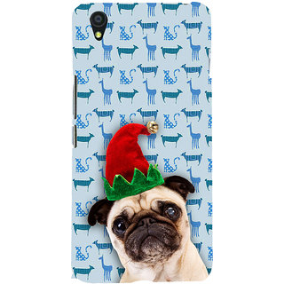 ifasho Dog with red hat Back Case Cover for One Plus X