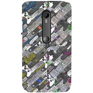 ifasho Animated Pattern  littel and Big colourful remotes Back Case Cover for Moto G3