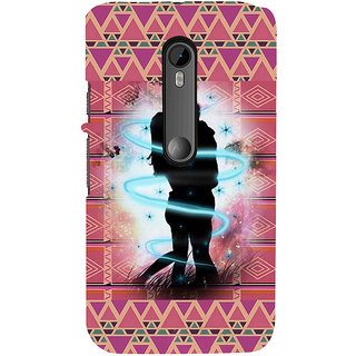 ifasho couple kissing Back Case Cover for Moto G3