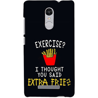 ifasho Quotes on exercise Back Case Cover for REDMI Note 3