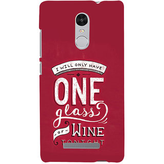 ifasho drink quotes Back Case Cover for REDMI Note 3
