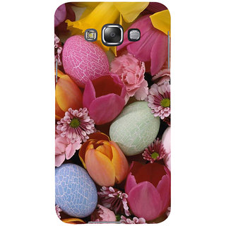 ifasho Bunch of Diffrent Flower Back Case Cover for Samsung Galaxy E7