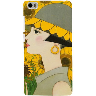 ifasho Painted Girl and flower Back Case Cover for Redmi Mi5