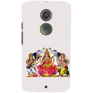 ifasho Laxmi Saraswati and Ganesh Back Case Cover for Motorola MOTO X2