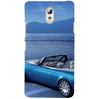ifasho Long Car in beach Back Case Cover for Lenovo Vibe P1M