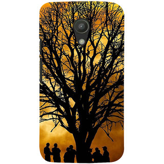 ifasho 3Dee Painting with people  Back Case Cover for Moto G2