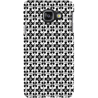 ifasho Animated Pattern design black and white flower in royal style Back Case Cover for Samsung Galaxy A3 A310 (2016 Edition)