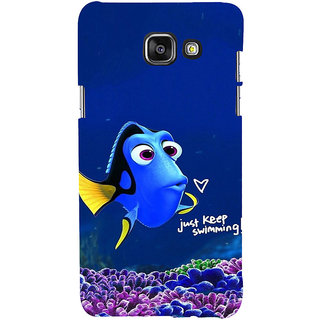 ifasho Fish cartoon just keep swimming Back Case Cover for Samsung Galaxy A7 A710 (2016 Edition)