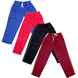 IndiWeaves Boys Premium Cotton Full Length Lower with 2 Open Pocket(Pack of 4)
