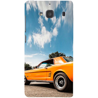 ifasho Orange colour Car Back Case Cover for Redmi 2S