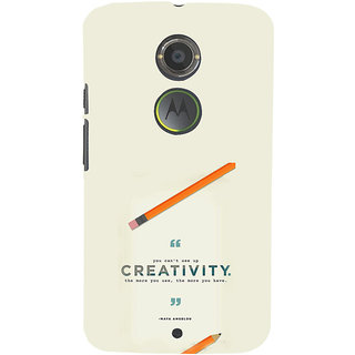ifasho quotes on creativity Back Case Cover for Motorola MOTO X2