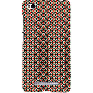 ifasho Animated Pattern design black and red flower in white background Back Case Cover for Redmi Mi4i