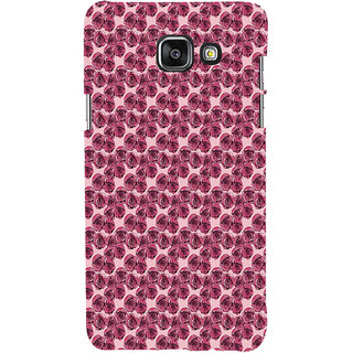 ifasho Animated Pattern small purple rose flower Back Case Cover for Samsung Galaxy A7 A710 (2016 Edition)