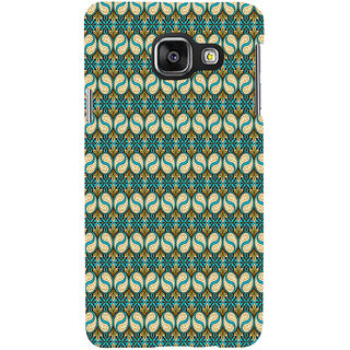 ifasho Animated Pattern design colorful flower in royal style with lines Back Case Cover for Samsung Galaxy A3 A310 (2016 Edition)