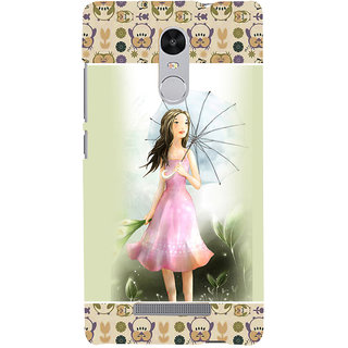 ifasho young Girl with umbrella Back Case Cover for REDMI Note 3