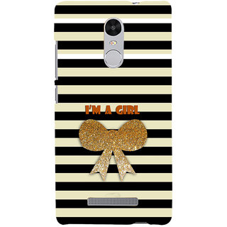 ifasho I am a girl Back Case Cover for REDMI Note 3
