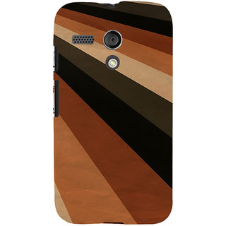 ifasho Design lines of different colours pattern Back Case Cover for Moto G