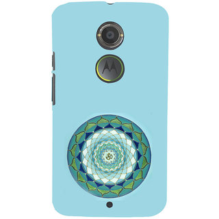 ifasho Modern Art Om design pattern in kundli Back Case Cover for Motorola MOTO X2